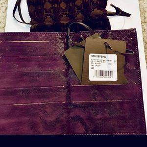 Roberto Cavalli Purple Snakeskin Wallet